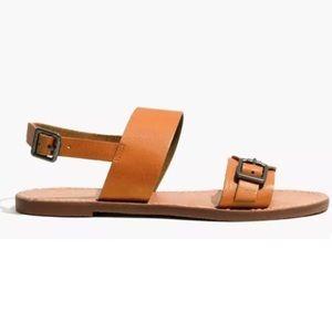 MADEWELL Boardwalk Brown Sandals 9.5